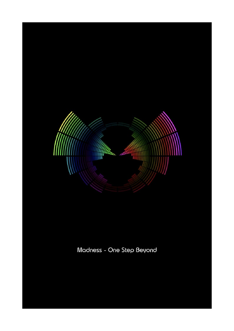 Madness A4 Size One Step Beyond Sound Wave Vector Art Print