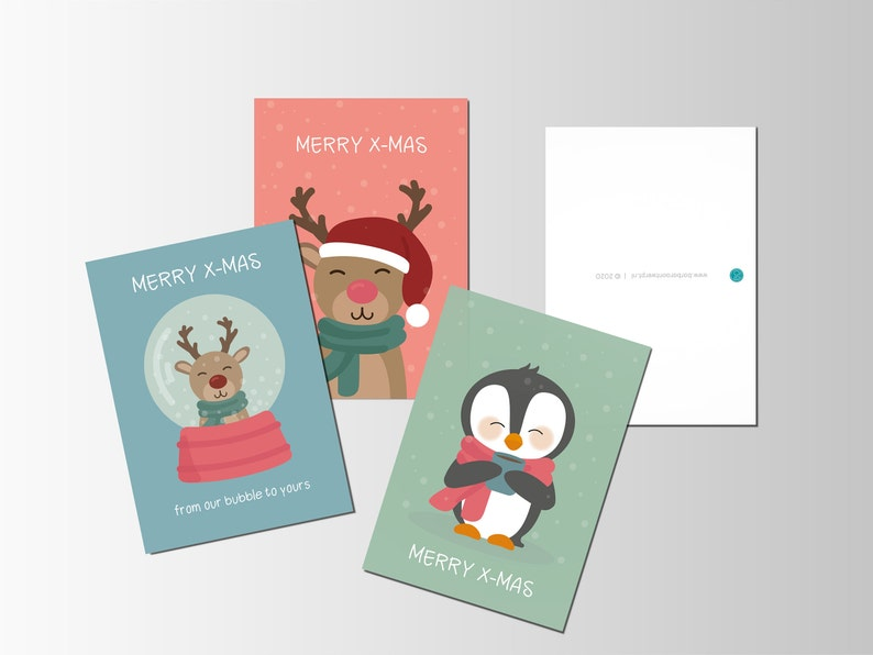 Set of 3 Christmas cards image 0