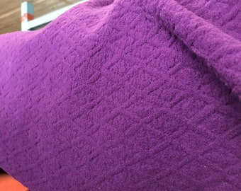 Polartec Jacquard Polar Fleece - Purple - By The Yard