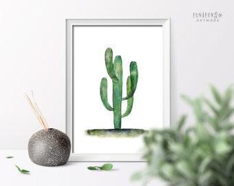 Succulent Print Digital Download, Cactus Print Wall Art, Printable Wall Art, Succulent Wall Decor, Botanical Print Instant Download