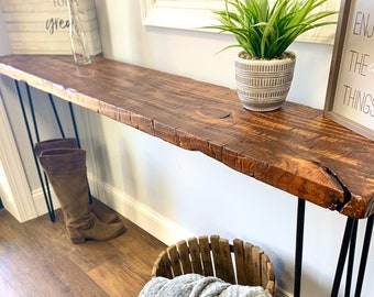 Rustic Console Table  Sideboard Handmade Reclaimed Wood With Steel Accents