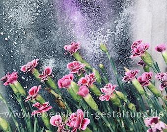 Garden clok   Carnation   artistically   Photo   Download   Poster   Self-printing   Gift   Decoration