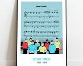 Star Trek original series wall art, minimalist print, TV series, Star Trek Fan, Captain Kirk
