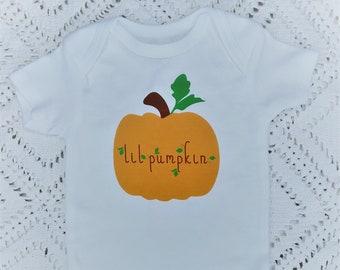 Little Pumpkin Glitter Babygrow Ethically Sourced Cotton