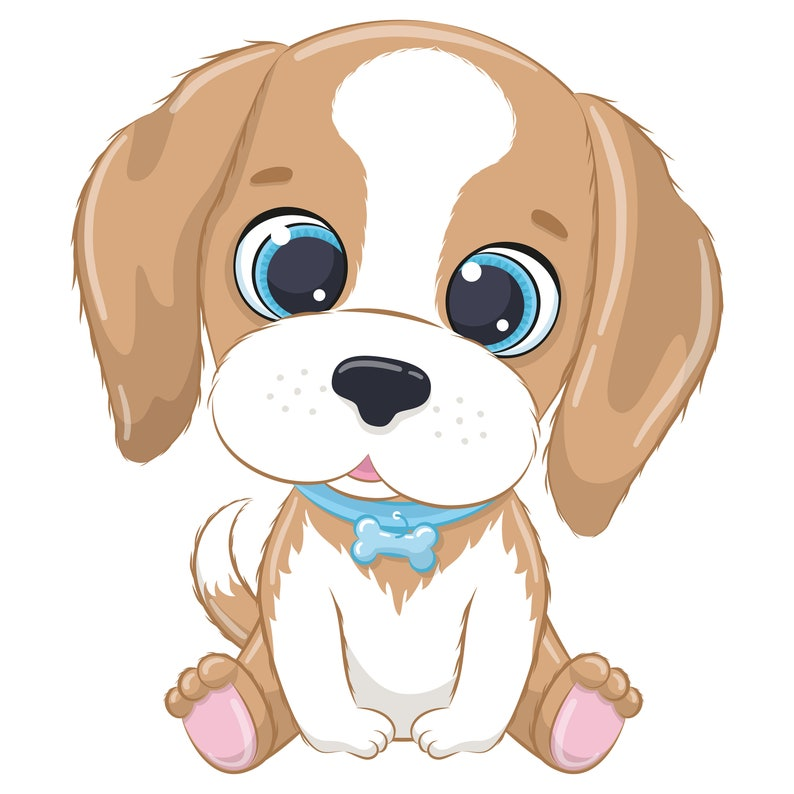 Cute Dog Clipart EPS PNG JPEG Pets Clipart Cute Animal   Etsy (794 x 794 Pixel)