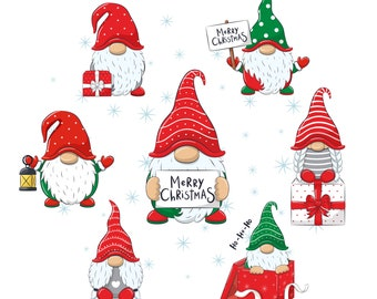 Christmas Gnome Clipart EPS, PNG, JPEG, Nordic Gnome, New Year Clip art