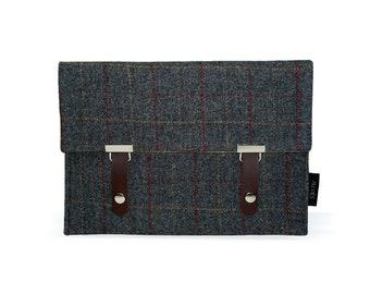Pepper Gray | iPad Pouch | Tweed | iPad Sleeve | iPad Case | iPad Cover | iPad Tweed Leather Case