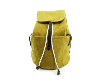 Honey Azure Backpack  | Travel | Braddock Fabric | Lining Cotton | Light Weight Durable Well Made | Extra Strong Stitching
