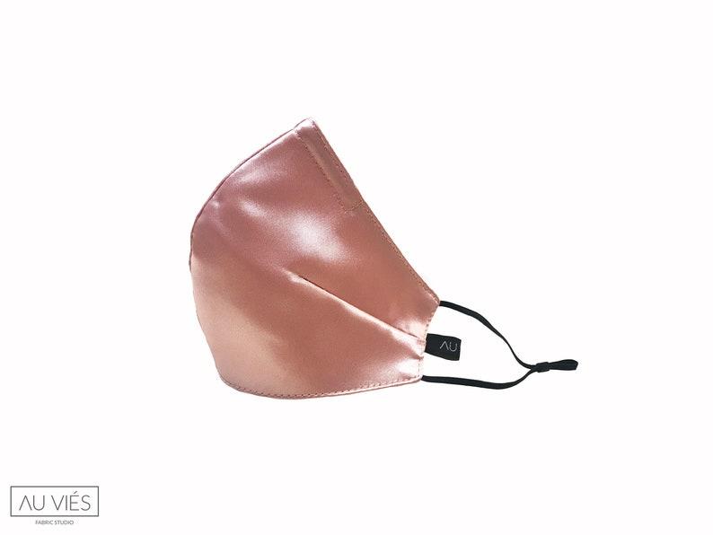 Miss Cupcake  Light Pink  Satin Face Masks  Protective  image 0