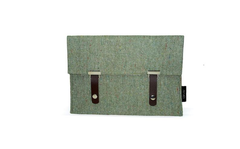 Pepper Green  iPad Pouch  Tweed  iPad Sleeve  iPad Case  image 0