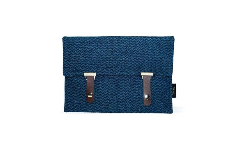 Pepper Blue  iPad Pouch  Tweed  iPad Sleeve  iPad Case  image 0