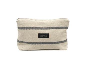 Natural Blue |  Pochette | Bag | Clutch | Purse | Beach Pochette | Zipper Pouch | Makeup Bag | Handmade