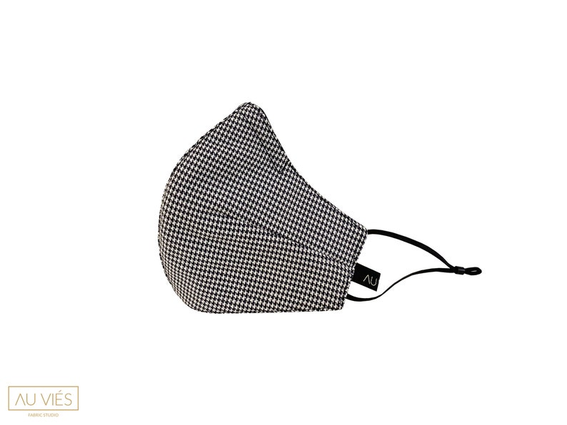 Pied-de-Poule  Protective Face Mask  Washable & Reusable  image 0