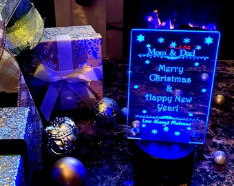 Merry Christmas & Happy New Year - LED Lamp