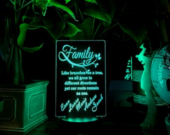 Family Tree -  Personalized LED Lamp