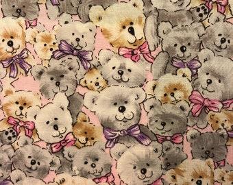 Vintage Children's Cotton Print Fabric