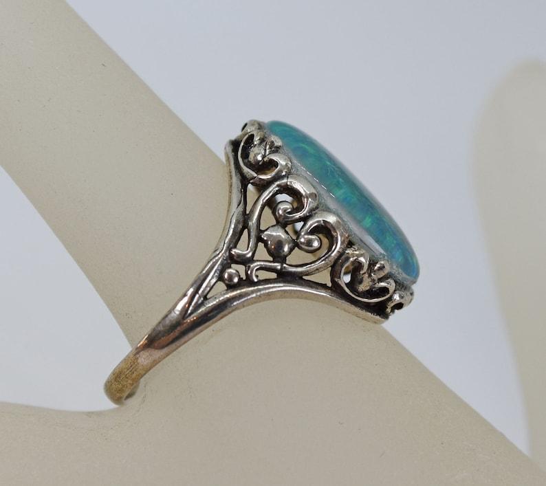 Large Australian Triplet Opal Ring Size 10