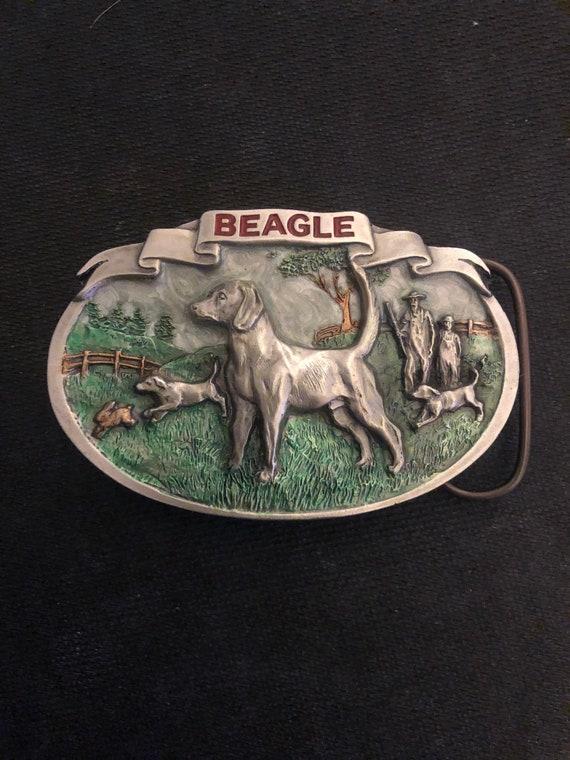 1986 beagle pewter belt buckle
