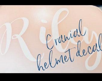 Cranial Helmet Name Decal