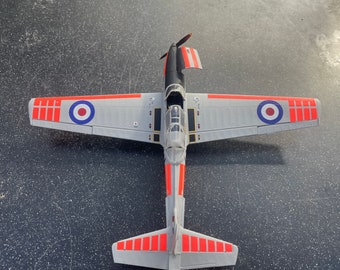 DHC Chipmunk T. Mk 10, Royal Air Force Markings (Oxford University) - built & weathered 1/48 model for display