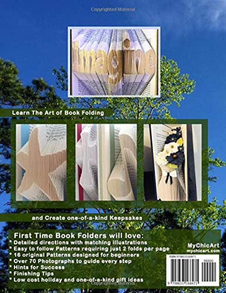 Folded Book Art Patterns and Directions How To fold Books 16 Patterns Book Folding for Beginners