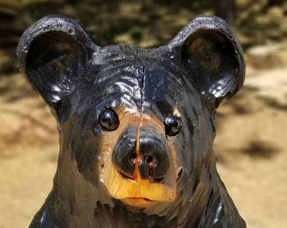 """15"""" Chainsaw Carved Sitting Bear Discounted"""