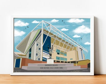 Elland Road stadium, Leeds print