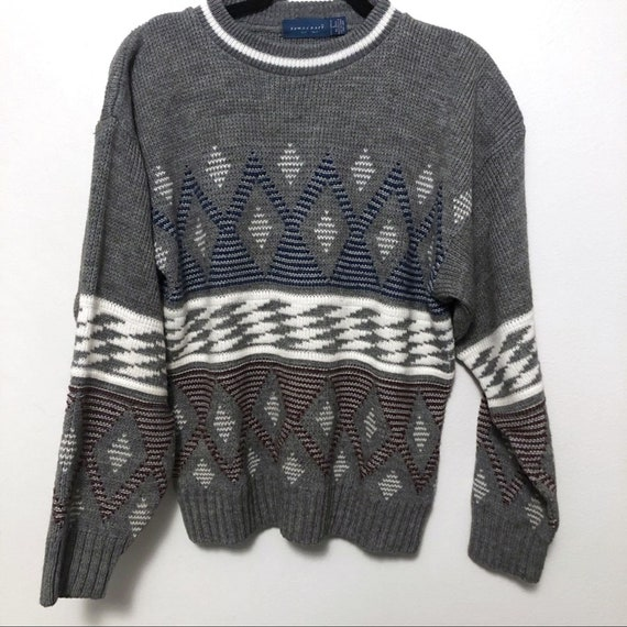 Vintage Geometric sweater Towncraft 1980's