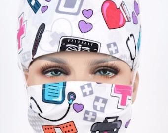 Surgical cap scrub hat for women unisex medical dental hats surgeon's assistant for nurse