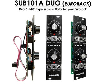 SUB101A Duo (Fully built dual SH-101 like, Eurorack Sub-oscillator)