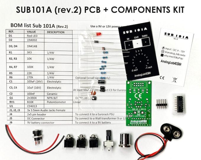 DIY SH-101 like Sub-oscillator (SUB 101A rev.2) for any Modular or semi-modular synths