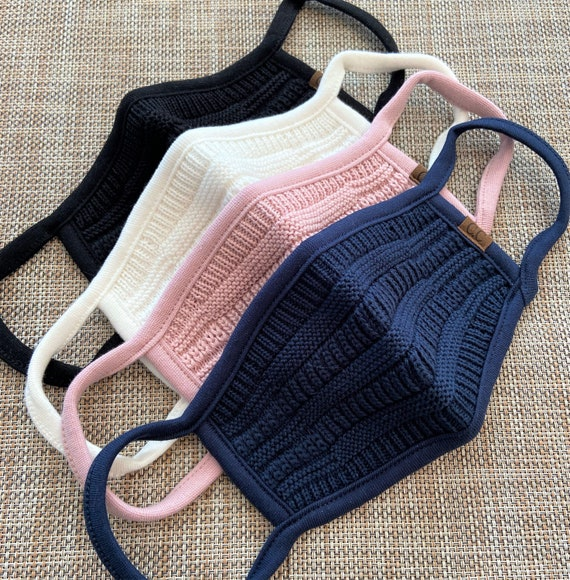Premium Knitted Winter Face Mask *Nose Wire / Filter pocket*/Hand made/Washable/Triple layered Reusable/Adult & Youth