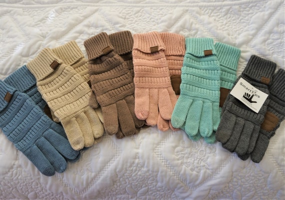 Warm Knit Gloves**Woman & Teen **Touch Screen Capability**Winter Mittens**