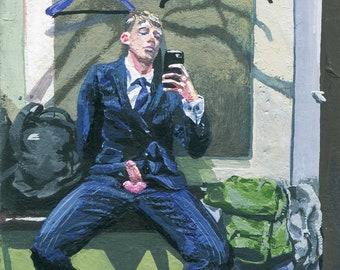 josef, changing room selfie - print