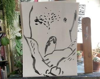 gouache on watercolour paper, lgbtq nude art