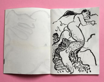 limited edition queer art zine - drawings volume 2  - BUM - gayzine queerzine lifedrawing