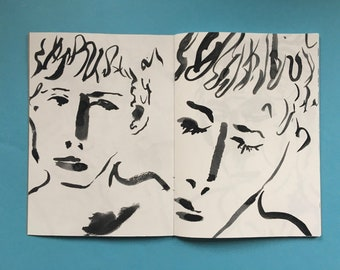 limited edition queer art zine - drawings volume 1  - FACE - gayzine queerzine lifedrawing