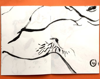 limited edition queer art zine - drawings volume 4  - PITS - gayzine queerzine lifedrawing gayart