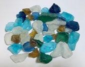 Sea Glass Ocean Beach Mix Bulk White Clear Aqua Turquoise Blue Green Amber Yellow Brown Tumbled Glass