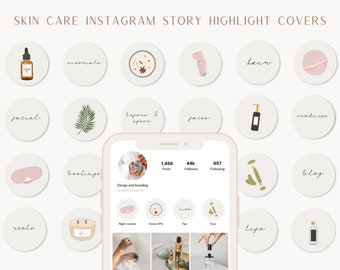 Skin Care Instagram Stories Highlight Covers, Cover Icons, Beauty Insta Story Covers, Aesthetic social media Beauty Salon, Beauty Blogger