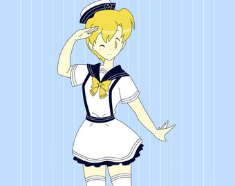 Sailor Art Print -- A5