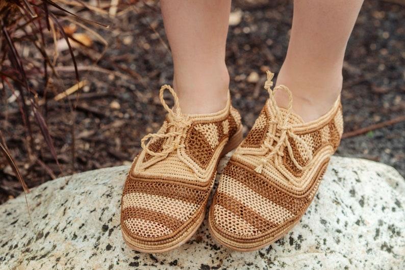 Vintage Sandals | Wedges, Espadrilles – 30s, 40s, 50s, 60s, 70s Moroccan Rafia Woven Raffia Slippers Raffia Slides Raffia Slippers Raffia Shoe Moroccan Shoe Handwoven shoe $90.00 AT vintagedancer.com