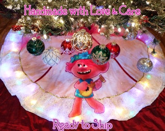 "58"" Christmas Tree Skirt | READY TO SHIP | Handmade | Personalized"