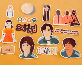 Squid Game inspired Sticker Pack (13 pc stickers) - HALLOWEEN LIMITED EDITION