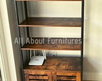 Metal Wall Shelf Unit Storage Cabinet