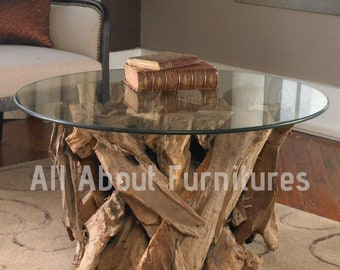 Round Glass Coffee Table Etsy