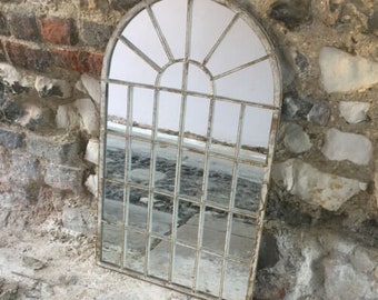 Gothic Arch Mirror Large Antique Church Window Outdoor Garden Patio Rustic Wall Design Small Shabby Chic French Style Glass Vintage Room