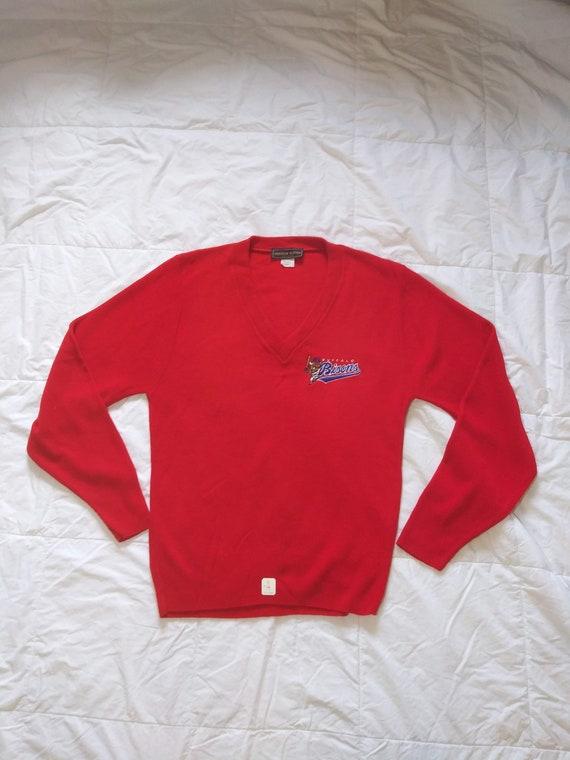 NWT Vintage 80's Buffalo Bisons V Neck Sweater