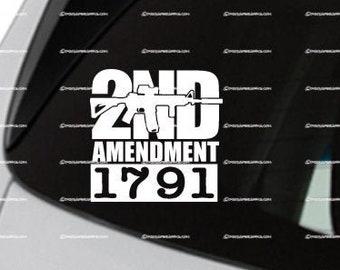 2nd Amendment AR-15 1791 Vinyl Decal