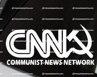 CNN = Communist News Network Vinyl decal